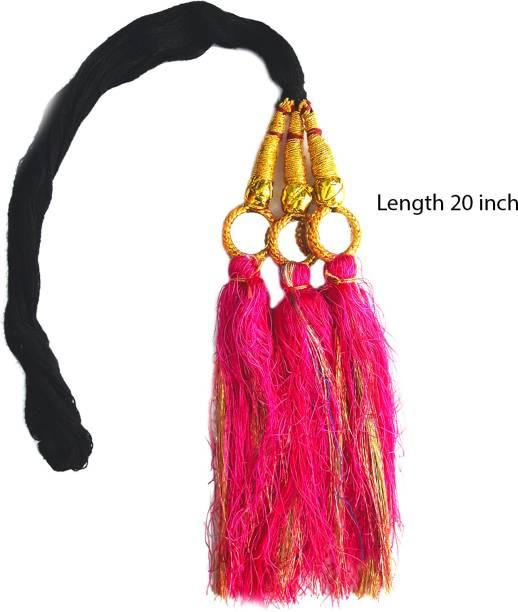 Rapidsflow® Hair Parandi For Kids/Hair Punjabi Paranda/Hair Paranda Choti For Kids Length 20inch Braid Extension