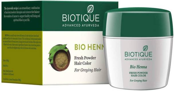 BIOTIQUE Bio Fresh Heena Powder Hair Color (Greying Hair )
