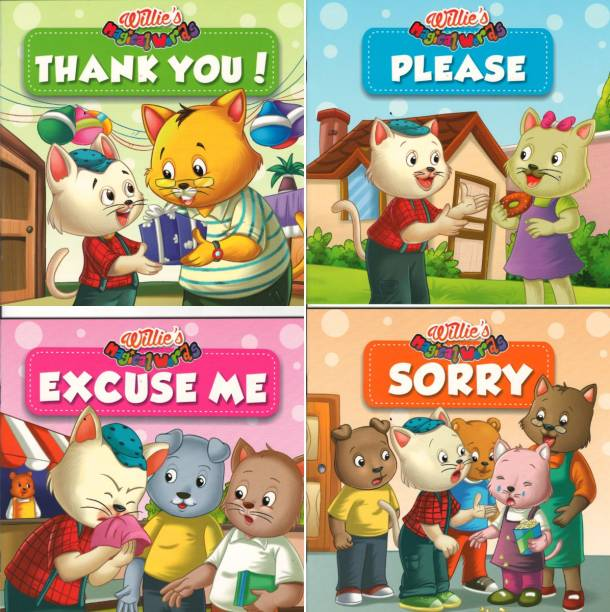Children's Manner Book (Please, Excuse Me, Thank You, Sorry)(Pack Of 4 Books)