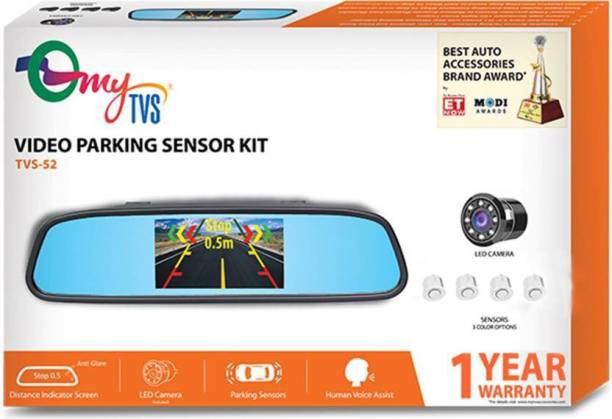MYTVS TVS-52 Video Reverse Parking Sensor with Distance Reading Voice - White Parking Sensor (Ultrasonic Systems) Vehicle Camera System