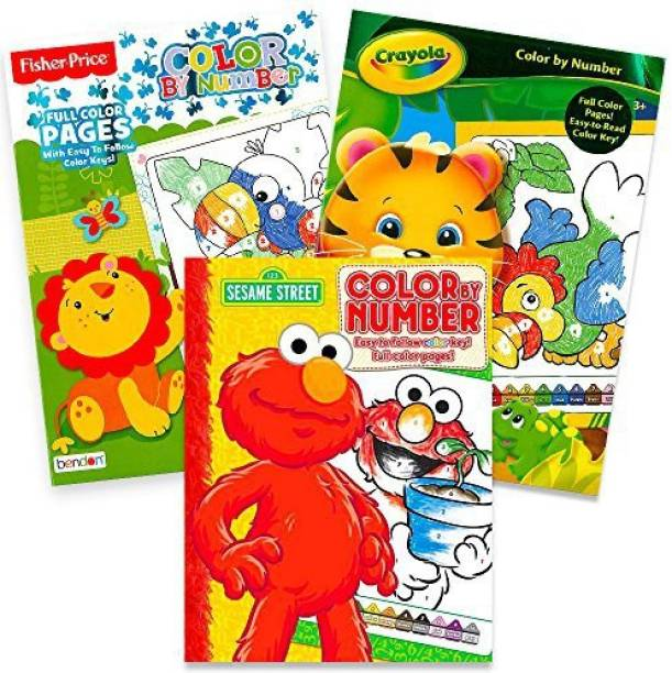 bac799a3c1e Sesame Street Color By Numbers Set -- 3 Color By Number Coloring Books for  Kids
