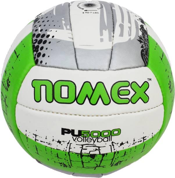 NOMEX PU-5000 Premium Imported 18 Panel Size 4 Multicolor Volleyball Volley Ball Volleyball - Size: 5