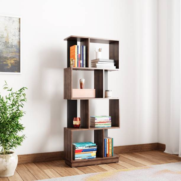 @Home by nilkamal Checkers Engineered Wood Open Book Shelf