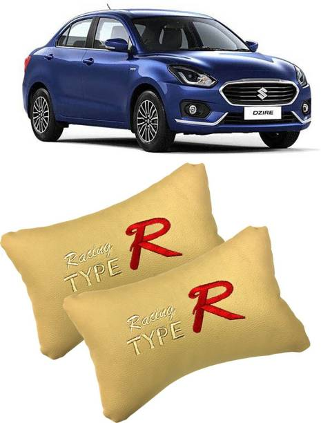 Shoolin Beige Leatherite Car Pillow Cushion for Maruti Suzuki