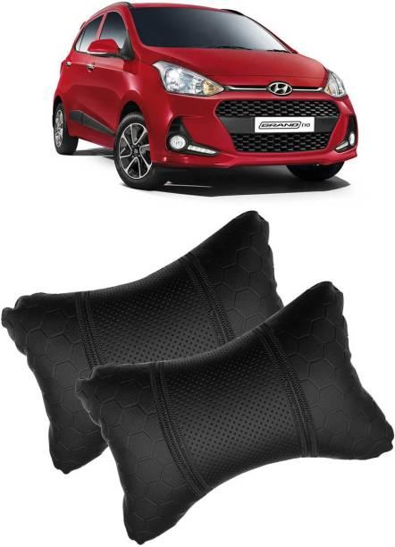 KANDID Black Leatherite Car Pillow Cushion for Hyundai