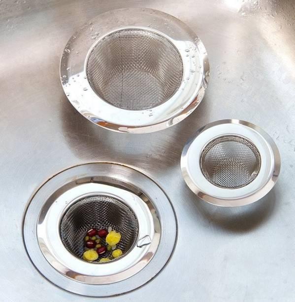 SHOPIP Kitchen Sink Stainless Steel Push Down Strainer