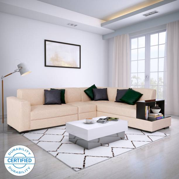 Flipkart Perfect Homes Conwy Leatherette 6 Seater  Sofa