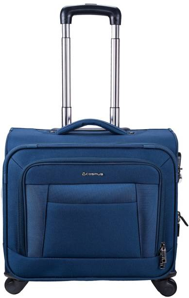 9dfc8c3fa Cosmus Columbus 4 Wheel Trolley Laptop Bag Navy with digital numeric metal  lock Expandable Cabin Luggage