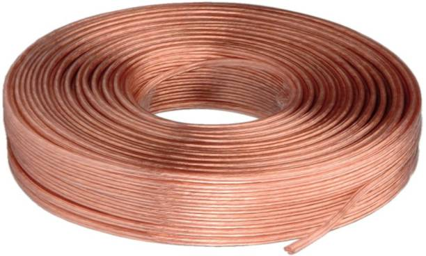 MX  TV-out Cable 330 Feet 100 Meters Professional Flexible 22 Awg Oxygen Free 100% Pure Copper Transparent Speaker Wire Cable -3089