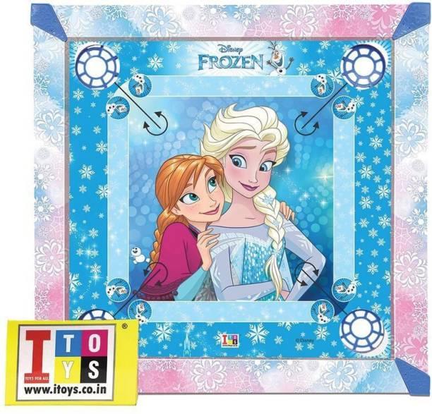 DISNEY Frozen Carrom & Ludo 20x20 size 2-in-1 Carrom Board Board Game