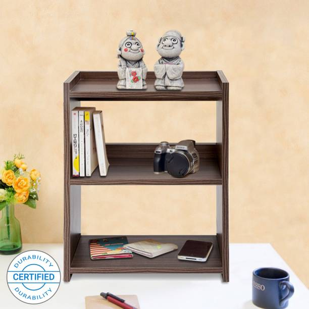 Delite Kom Rack Small Engineered Wood Open Book Shelf   Finish Color   Brown