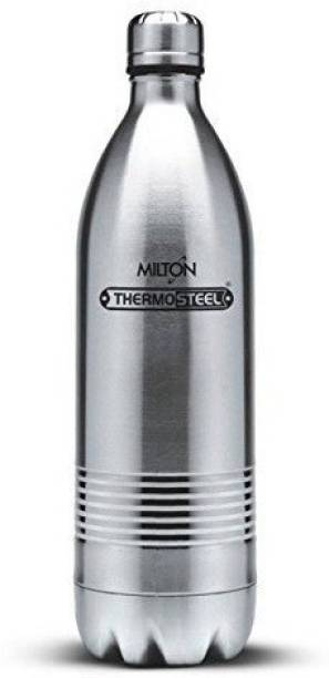 MILTON Thermosteel Duo Deluxe-1000 Bottle Style Vacuum Flask, 1 000 ml, Silver 1000 ml Flask