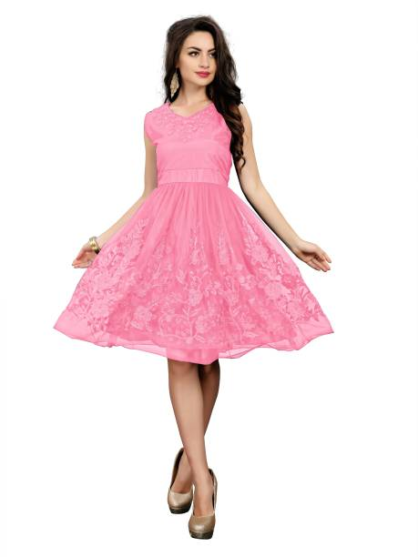 00b74fea78d95 Pink Dresses - Buy Pink Dresses Online at Best Prices In India ...