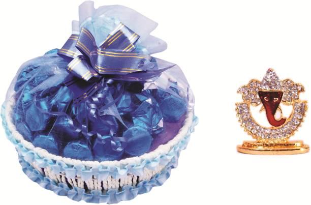 Skylofts Fancy Chocolate Basket with 27pcs & Ganeshji Idol Diwali Hamper Combo