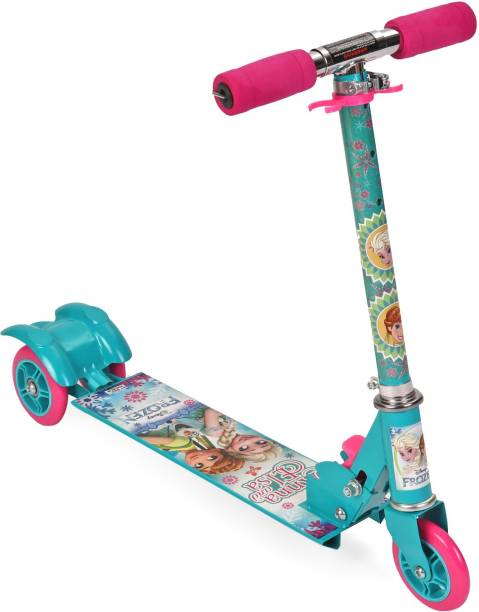DISNEY Ana & Elsa with Olaf 3 wheel Scooter - Blue & Pink