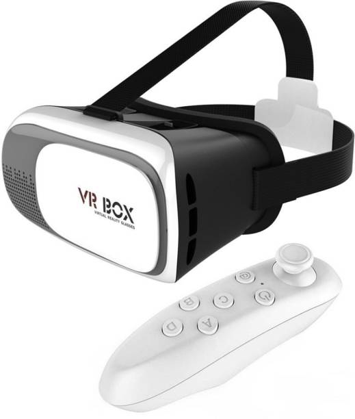 DRUMSTONE Vr Box 2Nd Generation Enhanced Version Reality Cardboard 3D Video Glasses with Remote Controller