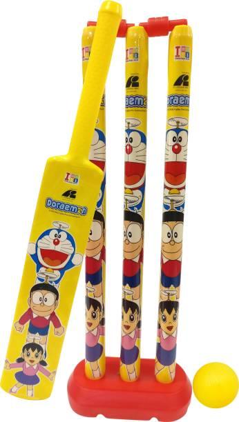 Doraemon Large Size Bat, Stumps and Ball Cricket Kit