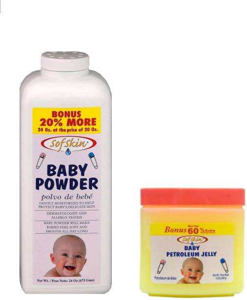 Sofskin BABY JELLY 368GM AND BABY POWDER 675GM