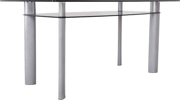 Godrej Interio Marvel Glass 6 Seater Dining Table