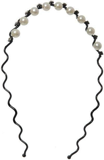 Smartcraft Hairband with Pearl & Rhinestone - Black for Girls (1-6years old) Head Band