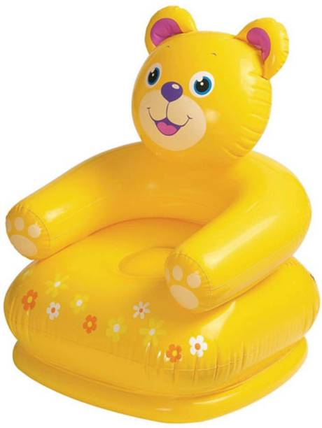 INTEX Kid's Teddy Bear Inflatable Chair - Yellow Inflatable Sofa/ Chair