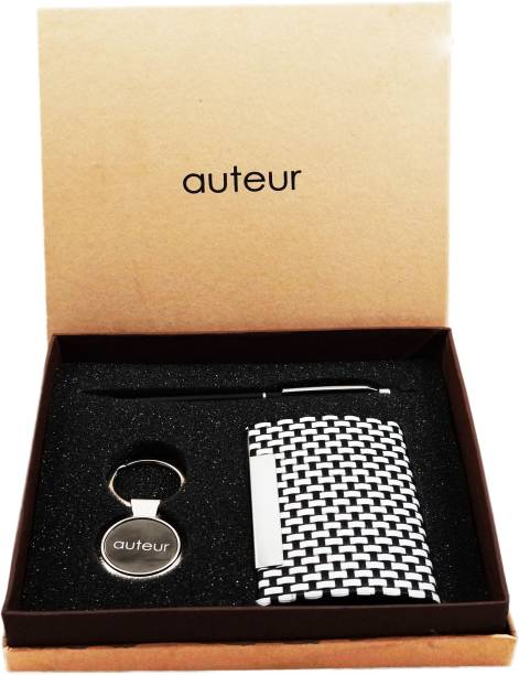 auteur 3-in-one, A Stylus for All Capacitive Touch Screens Ball Pen, Premium Quality Visiting Card Holder and A Premium Metal Key Chain Pen Gift Set