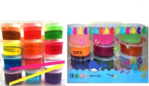 S2KCrafts S2KC-0975 Sparkling Glitter Jelly Clay & 5D Slime ultra-light clay Super