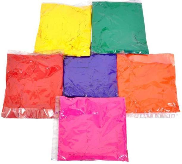 COLORFULL Pack of 6 Rangoli Powder