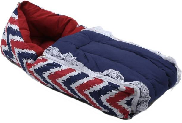 Bacati Mix N Match Red Navy Zigzag Reversible Baby Sleeping Bag