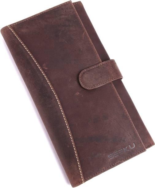 436aa572504 myseeku Unisex Leather Passport Holder - Multipurpose Leather Credit Card