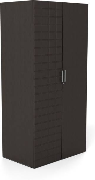 25113822b Godrej Interio CHOC 2 DR 900 W WDB WTH DWR Engineered Wood 2 Door Wardrobe