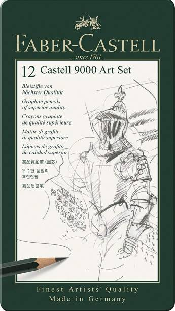 FABER-CASTELL 9000 art set of 12 pencils -Pack of 3