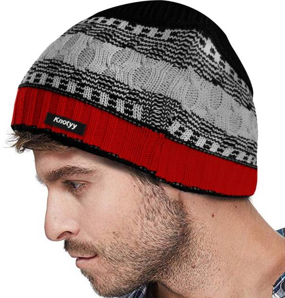 Knotyy Solid Beanie Cap ef4956635a95