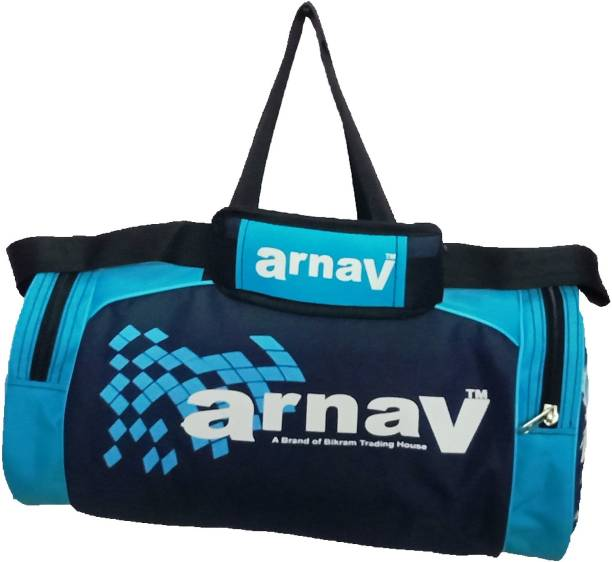 3c877ec5fcaf Arnav Stylish Printed Round Duffel Bag With 2 Side Pockets for Sports Travel  camping Gym Bag