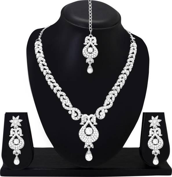 c06bb3a9de Silver Jewellery Sets - Buy Silver Jewellery Sets Online at Best ...