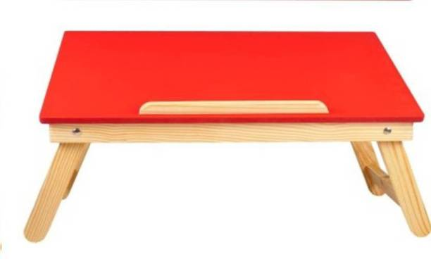 Vencho Red Plain Colored Wood Portable Laptop Table