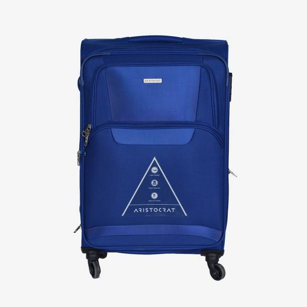 66706f5997b4f4 Aristocrat Amber 69 cm Soft Trolley (Blue) Expandable Check-in Luggage - 27
