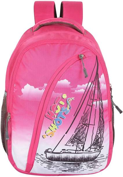 64f0192d8127 Hot Shot Polyester Waterproof School-College-Tution-Gym Casual 28 L  Standrad Size