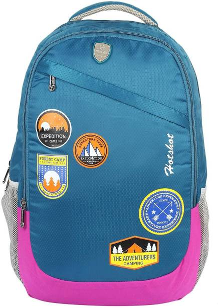 ed27cd72759c Hot Shot Polyester Waterproof School-College-Tution-Gym Casual 35 L  Standrad Size
