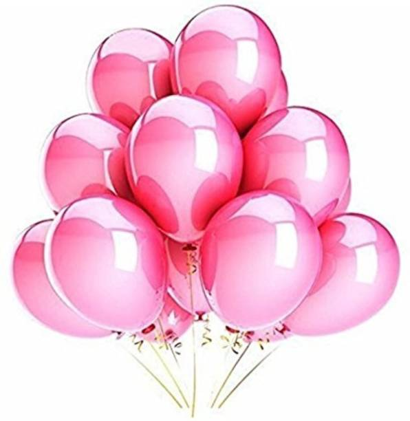 Smartcraft Solid Metallic Balloons - Pack of 100 (Pink) Balloon