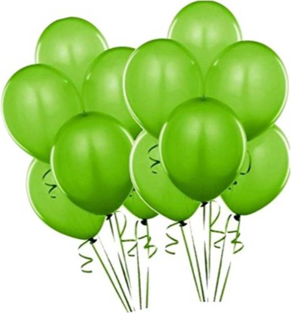 Smartcraft Solid Metallic Balloons - Pack of 100 (Green) Balloon