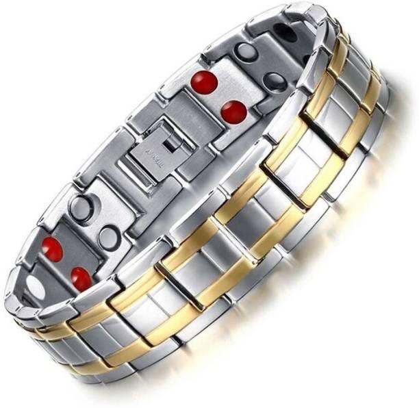 University Trendz Stainless Steel, Metal Sterling Silver, Gold-plated, Titanium Bracelet