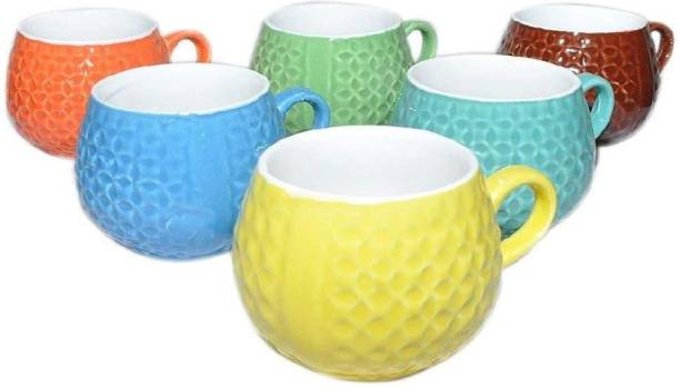 Onisha Pack of 6 Bone China Pack of Bone China (pack of 6) tea and coffee cup set 120 ml