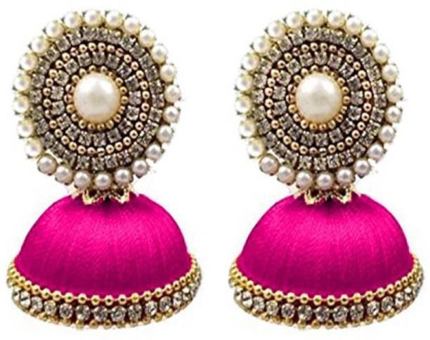 9fb9aef4d blue jays hub Blue jays hub silk thread ear rings Beads Silk Dori Jhumki  Earring