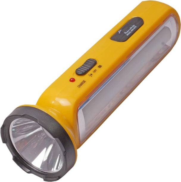 Pigeon 3w Ontop LED Bright White 2 Mode Rechargeable Emergency Table Desk Torch Light Night Lamp Torch Emergency Light
