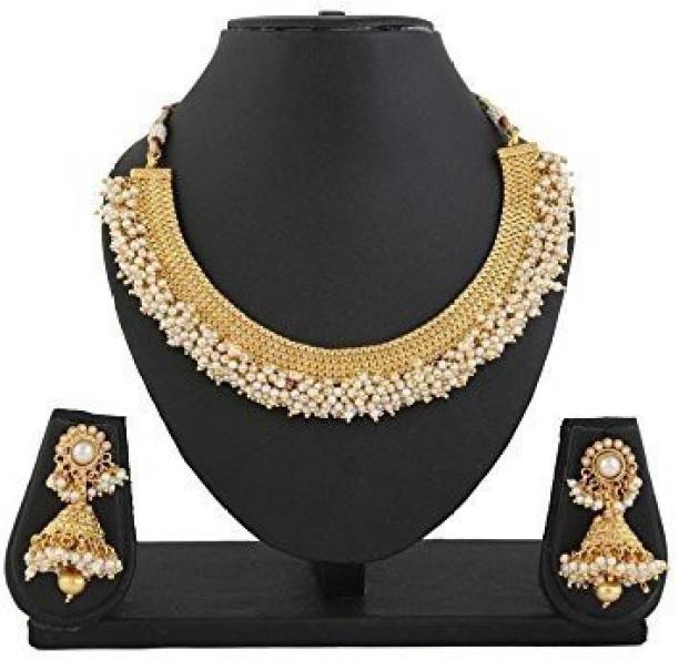 c2888fdd796849 Gold Choker Necklaces - Buy Gold Choker Necklaces online at Best ...
