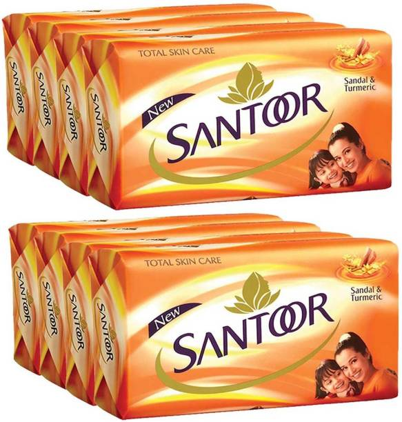 santoor Soap Sandal and Turmeric 125g x 8