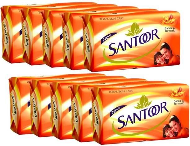 santoor Soap Sandal & Turmeric 125g x 10