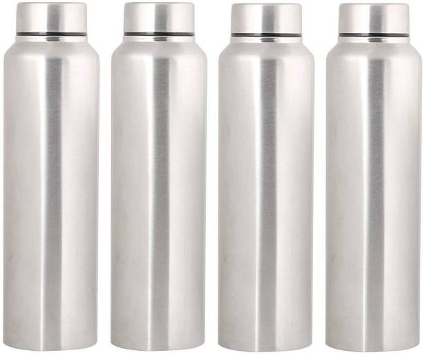 0cf36897599 Swertia Stainless Steel Water Bottle Silver 1000ml Set of 4 1000 ml Bottle