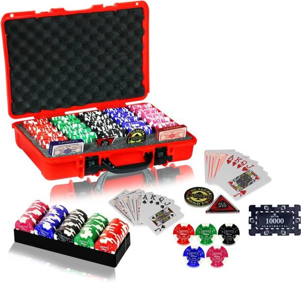Casinoite Billium 500 with Denomination Bricks Chip Set
